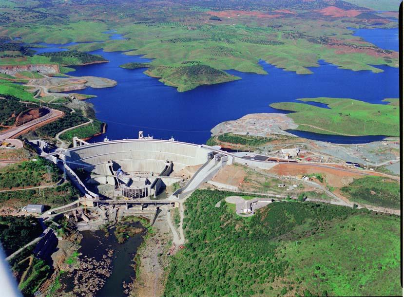 Presa Alqueva (Guadiana). Lago artificial más grande de Europa