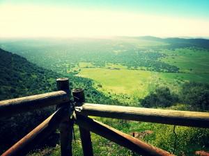 Visión de toda la comarca de los Llanos de Olivenza.