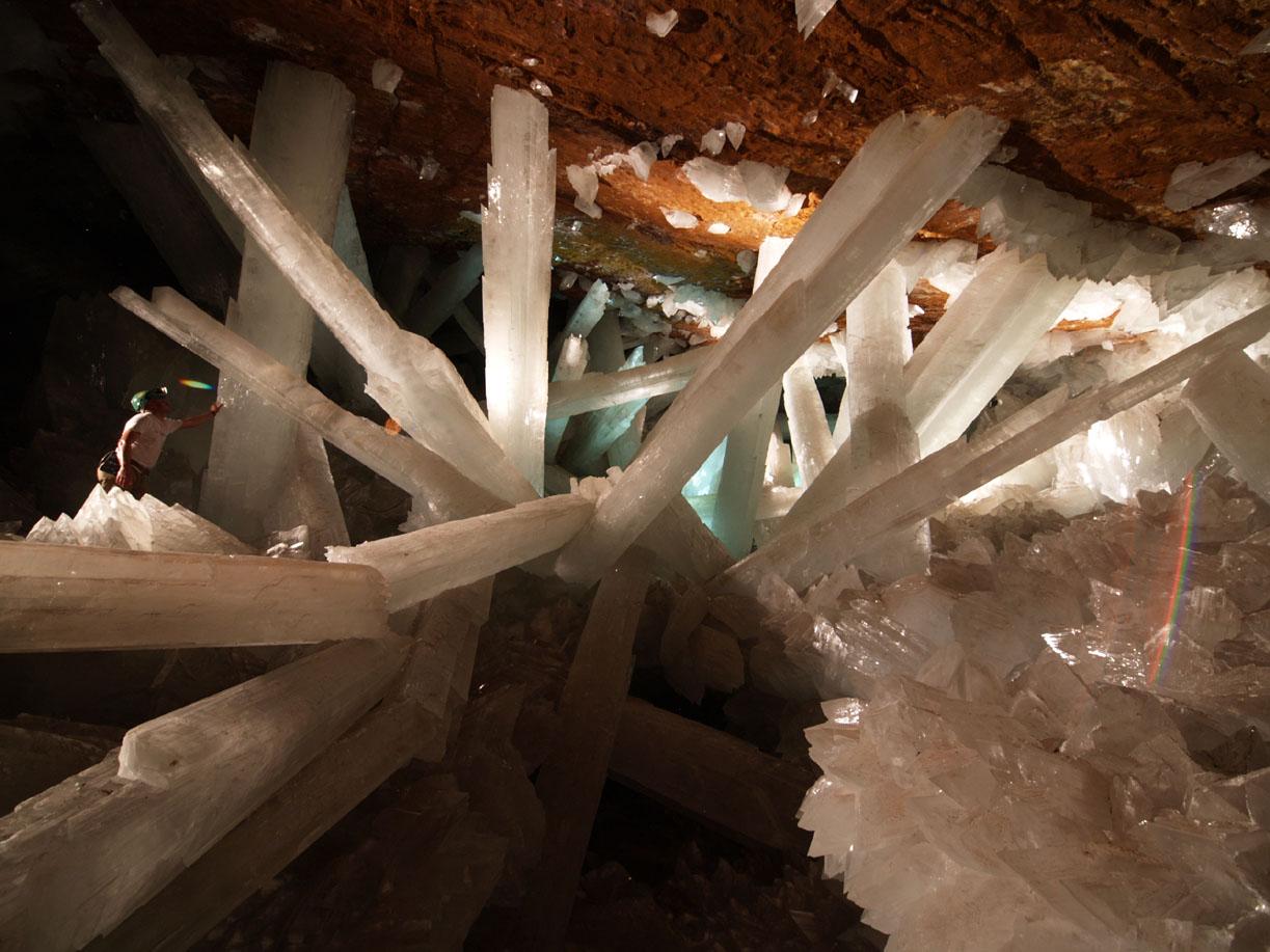 La cueva de los cristales gigantes.