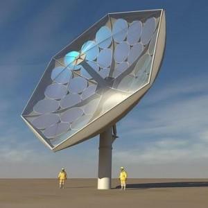 Recreación artística del plato fotovoltaico en el que trabajan los científicos