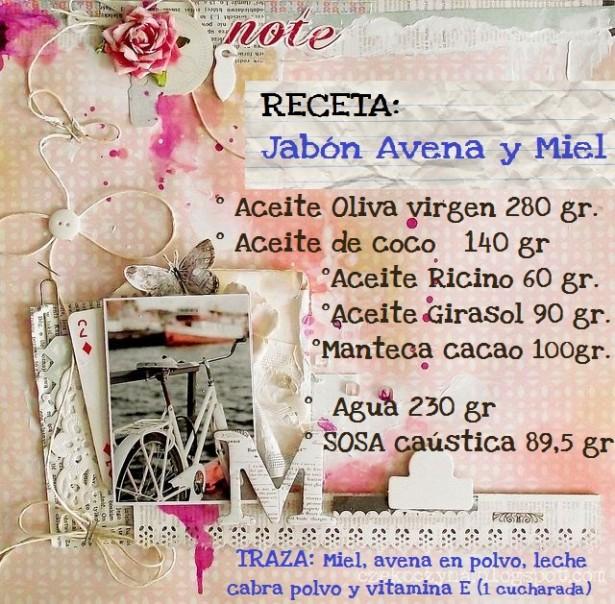 Receta Jabón Avena y Miel