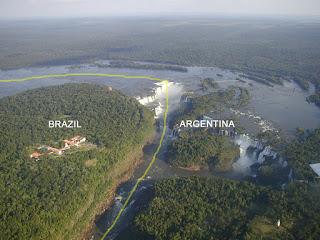 Distribución entre Brasil y Argentina